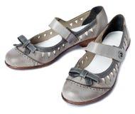 Vrouwelijke schoenen zonder een hiel Royalty-vrije Stock Afbeeldingen