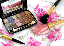 Vrouwelijke schoonheidsmiddelen Stock Fotografie