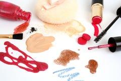Vrouwelijke schoonheidsmiddelen Royalty-vrije Stock Afbeeldingen