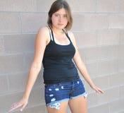 Vrouwelijke schoonheidsuitdrukkingen Stock Foto