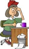 Vrouwelijke schrijver vector illustratie