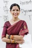 Vrouwelijke Spreker With Arms Crossed Royalty-vrije Stock Fotografie
