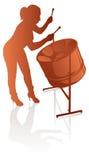 Vrouwelijke steelpan speler Royalty-vrije Stock Foto