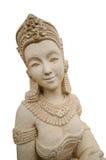 Vrouwelijke steengravure Stock Foto
