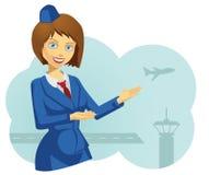 Vrouwelijke Stewardess Stock Foto's