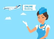 Vrouwelijke Stewardess vector illustratie