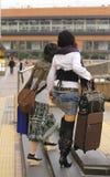 Vrouwelijke straatmanier Royalty-vrije Stock Afbeeldingen