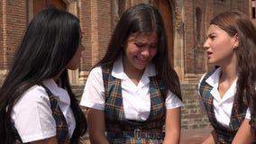 Vrouwelijke Student Crying royalty-vrije stock foto