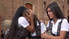 Vrouwelijke Student Crying And Compassion stock afbeelding
