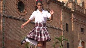 Vrouwelijke Student Dancing Hiphop royalty-vrije stock afbeelding