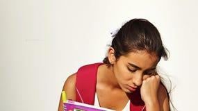 Vrouwelijke Student And Sadness Royalty-vrije Stock Afbeelding