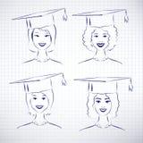 Vrouwelijke studenten stock illustratie