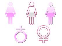 Vrouwelijke Symbolen Royalty-vrije Stock Foto's