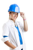 Vrouwelijke technicus Stock Foto's