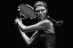 Vrouwelijke tennisspeler Stock Afbeelding