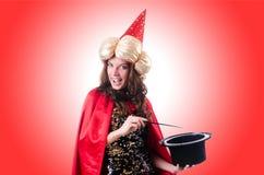 Vrouwelijke tovenaar Royalty-vrije Stock Foto's