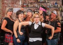 Vrouwelijke Troep die in Grappige Nerd lachen Stock Afbeeldingen