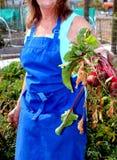 Vrouwelijke tuinmanuitdrukkingen Stock Afbeeldingen