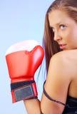 Vrouwelijke vechter Royalty-vrije Stock Afbeeldingen