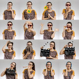 Vrouwelijke Veelvoudige Portretten stock foto