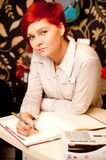 Vrouwelijke verkoopmedewerker Royalty-vrije Stock Fotografie