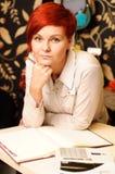 Vrouwelijke verkoopmedewerker Stock Fotografie