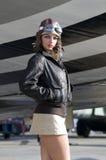 Vrouwelijke vliegenier Royalty-vrije Stock Afbeeldingen