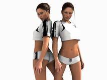 Vrouwelijke voetballers Royalty-vrije Stock Foto