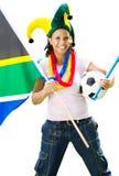 Vrouwelijke voetbalventilator Royalty-vrije Stock Foto