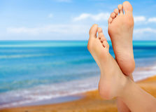 Vrouwelijke voeten Stock Afbeeldingen