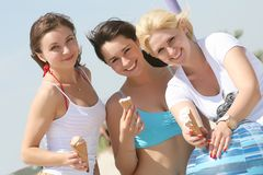 Vrouwelijke vrienden Royalty-vrije Stock Fotografie