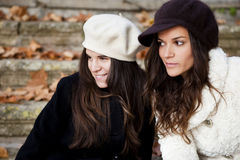 Vrouwelijke vrienden Stock Foto's