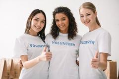 Vrouwelijke vrijwilligers Royalty-vrije Stock Afbeelding