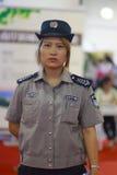 Vrouwelijke wacht in uniform Royalty-vrije Stock Foto