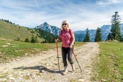 Vrouwelijke wandelaar Royalty-vrije Stock Afbeeldingen
