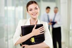 Vrouwelijke werkgever Stock Foto's