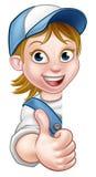 Vrouwelijke werknemertimmerman Mechanic of Loodgieter Stock Foto's