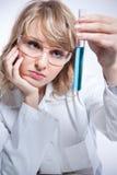 Vrouwelijke wetenschapper Royalty-vrije Stock Afbeeldingen