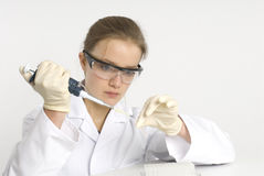 Vrouwelijke wetenschapper Stock Foto's