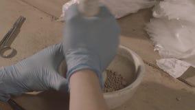 Vrouwelijke Wetenschapper In Laboratory stock footage