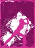 Vrouwelijke Zanger 2 Royalty-vrije Illustratie