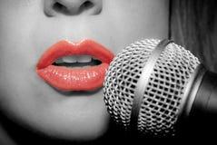 Vrouwelijke zanger Royalty-vrije Stock Afbeelding