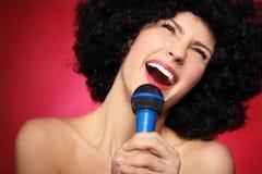 Vrouwelijke zanger Royalty-vrije Stock Foto