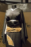 Vrouwelijke zwarte kimono Royalty-vrije Stock Fotografie