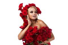 Vrouwelijkheid, luxe en schoonheid Stock Foto