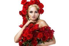 Vrouwelijkheid, luxe en schoonheid Royalty-vrije Stock Afbeeldingen