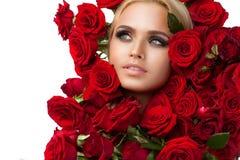 Vrouwelijkheid, luxe en schoonheid Stock Afbeeldingen