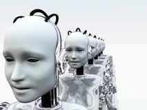 Vrouwen 3 van de robot stock illustratie