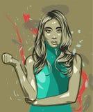 Vrouwen abstracte vector als achtergrond Royalty-vrije Stock Afbeelding