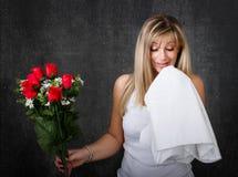 Vrouwen allergische problemen royalty-vrije stock fotografie